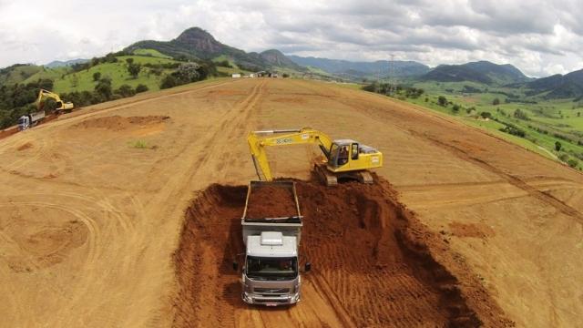 Acompanhamento de obra de terraplanagem