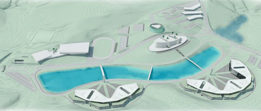 Projeto de terraplanagem de platôs